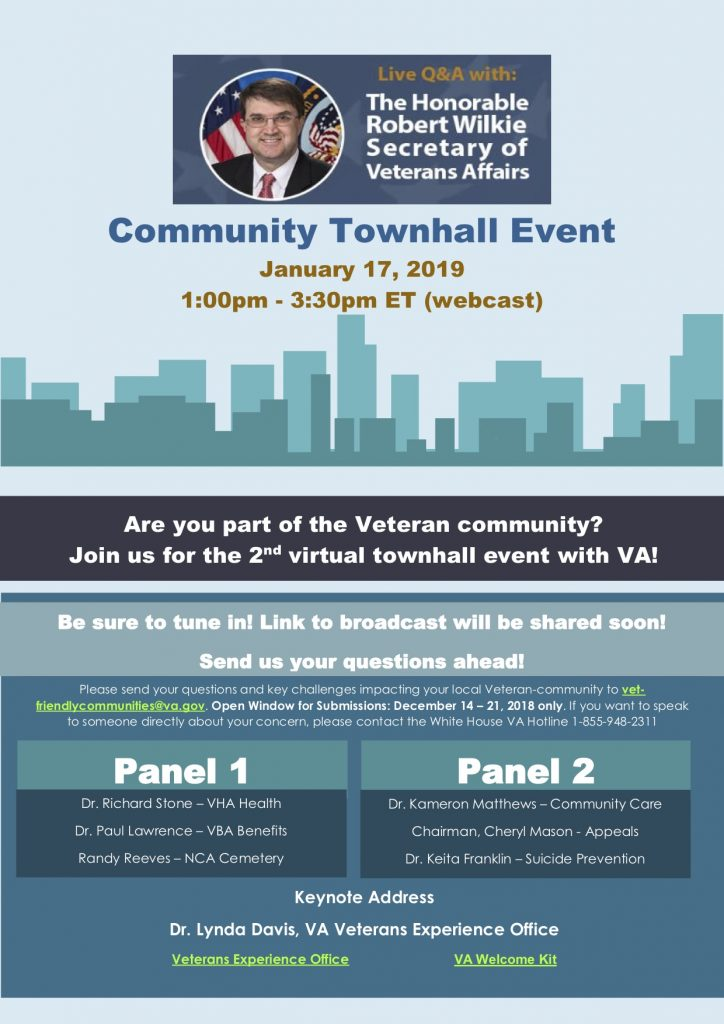 SECVA Community Townhall Virtual Event @ Webcast